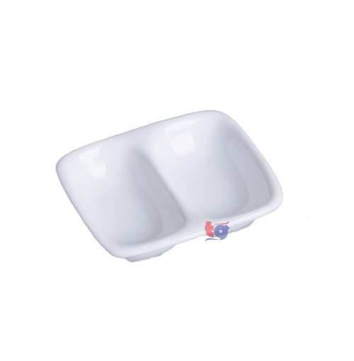 "160-002 3"" DIVIDED SAUCE DISH"