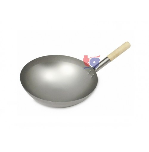 METAL WOK WITH HANDLE
