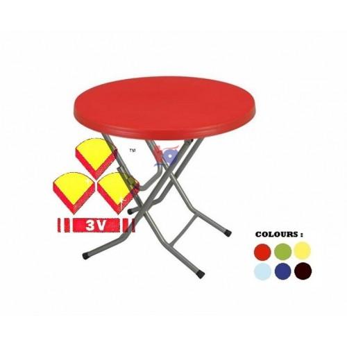 3V 3FT PLASTIC ROUND TABLE