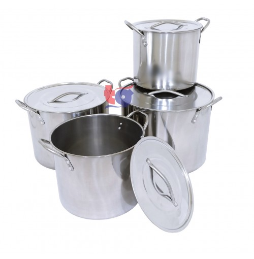 S/S STOCK POT SET ( 4 pcs )
