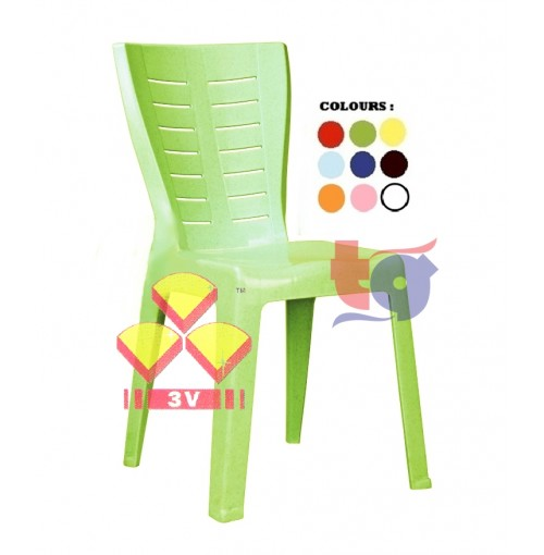 3V PLASTIC DINING CHAIR
