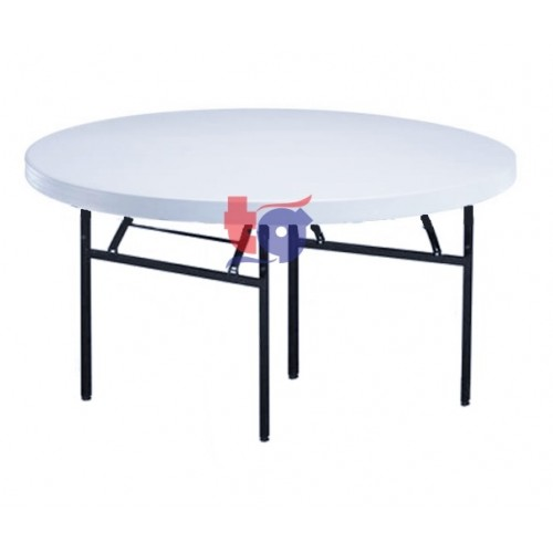 round plastic banquet table / folding table