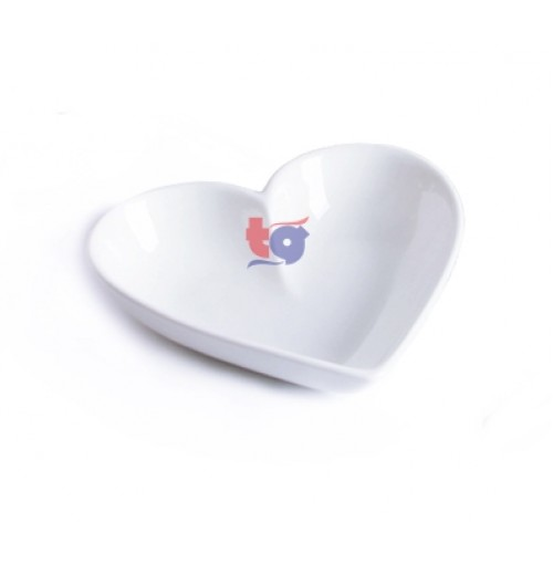"160-004F  3""LOVE SHAPE SAUCER"